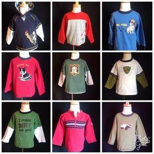 Gymboree boys long sleeve shirts hoodies 9 pc 2T